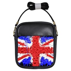 Distressed British Flag Bling Kids  Sling Bag