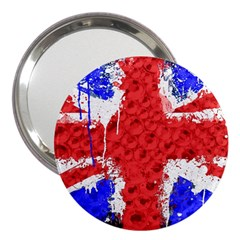 Distressed British Flag Bling 3  Handbag Mirror