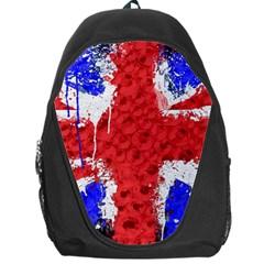 Distressed British Flag Bling Backpack Bag