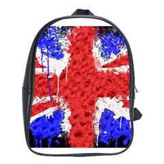 Distressed British Flag Bling School Bag (XL)