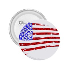 Sparkling American Flag Regular Button (Round)