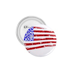 Sparkling American Flag Small Button (Round)