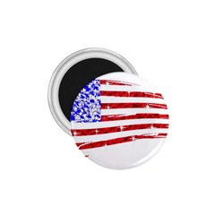Sparkling American Flag Small Magnet (Round)