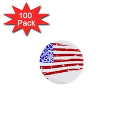 Sparkling American Flag 100 Pack Mini Button (round)