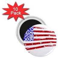 Sparkling American Flag 10 Pack Small Magnet (Round)