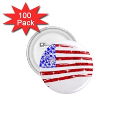 Sparkling American Flag 100 Pack Small Button (Round)