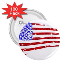 Sparkling American Flag 100 Pack Regular Button (Round)