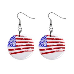 Sparkling American Flag Mini Button Earrings