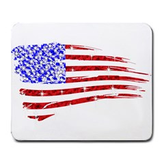 Sparkling American Flag Large Mouse Pad (rectangle)