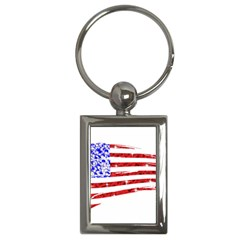Sparkling American Flag Key Chain (Rectangle)