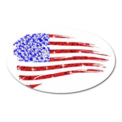 Sparkling American Flag Large Sticker Magnet (oval)