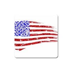 Sparkling American Flag Large Sticker Magnet (Square)