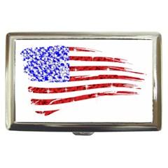 Sparkling American Flag Cigarette Box