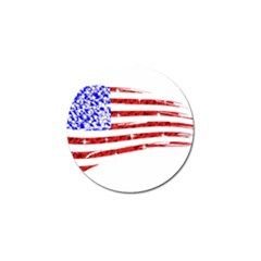 Sparkling American Flag Golf Ball Marker