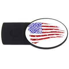 Sparkling American Flag 2gb Usb Flash Drive (oval)