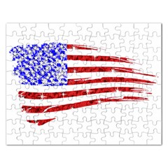Sparkling American Flag Jigsaw Puzzle (Rectangle)