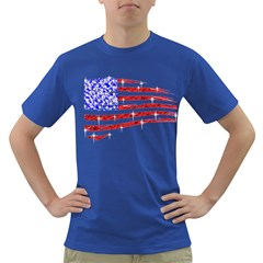 Sparkling American Flag Colored Mens'' T-shirt