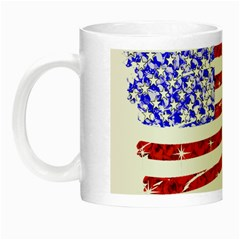 Sparkling American Flag Glow in the Dark Mug