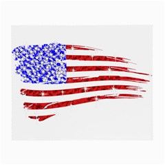 Sparkling American Flag Glasses Cleaning Cloth