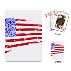 Sparkling American Flag Standard Playing Cards