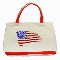Sparkling American Flag Red Tote Bag