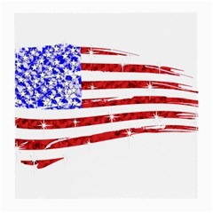 Sparkling American Flag Single Sided Large Glasses Cleaning Cloth