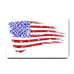 Sparkling American Flag Small Door Mat