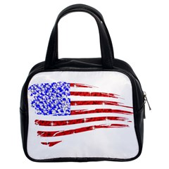 Sparkling American Flag Twin-sided Satched Handbag