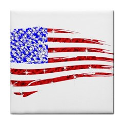 Sparkling American Flag Face Towel