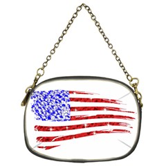 Sparkling American Flag Single-sided Evening Purse