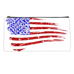 Sparkling American Flag Pencil Case