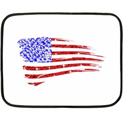 Sparkling American Flag Twin-sided Mini Fleece Blanket