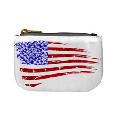 Sparkling American Flag Coin Change Purse