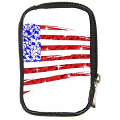 Sparkling American Flag Digital Camera Case