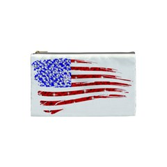 Sparkling American Flag Small Makeup Purse