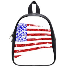 Sparkling American Flag Small School Backpack