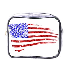 Sparkling American Flag Single Sided Cosmetic Case
