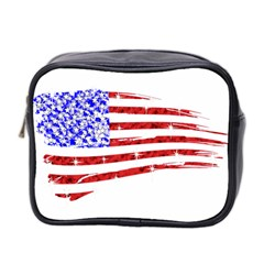 Sparkling American Flag Twin Sided Cosmetic Case