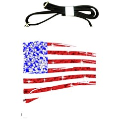 Sparkling American Flag Cross Shoulder Sling Bag