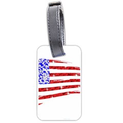 Sparkling American Flag Single Sided Luggage Tag