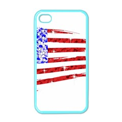 Sparkling American Flag Apple iPhone 4 Case (Color)
