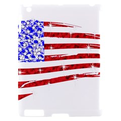 Sparkling American Flag Apple iPad 2 Hardshell Case (Compatible with Smart Cover)