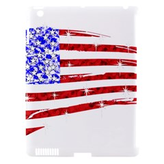 Sparkling American Flag Apple Ipad 3/4 Hardshell Case (compatible With Smart Cover)