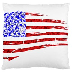 Sparkling American Flag Large Cushion Case (One Side)