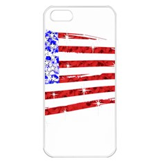 Sparkling American Flag Apple Iphone 5 Seamless Case (white)