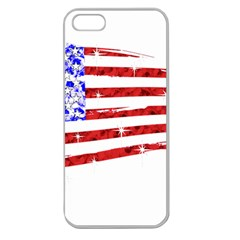 Sparkling American Flag Apple Seamless iPhone 5 Case (Clear)