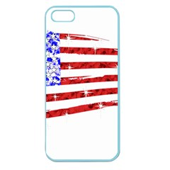 Sparkling American Flag Apple Seamless iPhone 5 Case (Color)