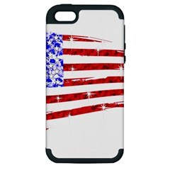 Sparkling American Flag Apple iPhone 5 Hardshell Case (PC+Silicone)