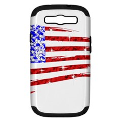 Sparkling American Flag Samsung Galaxy S III Hardshell Case (PC+Silicone)