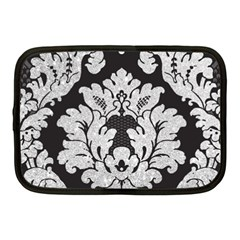 Diamond Bling Glitter on Damask Black 10  Netbook Case
